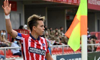 La jugadora del Atlético de Madrid Amanda durante un partido.