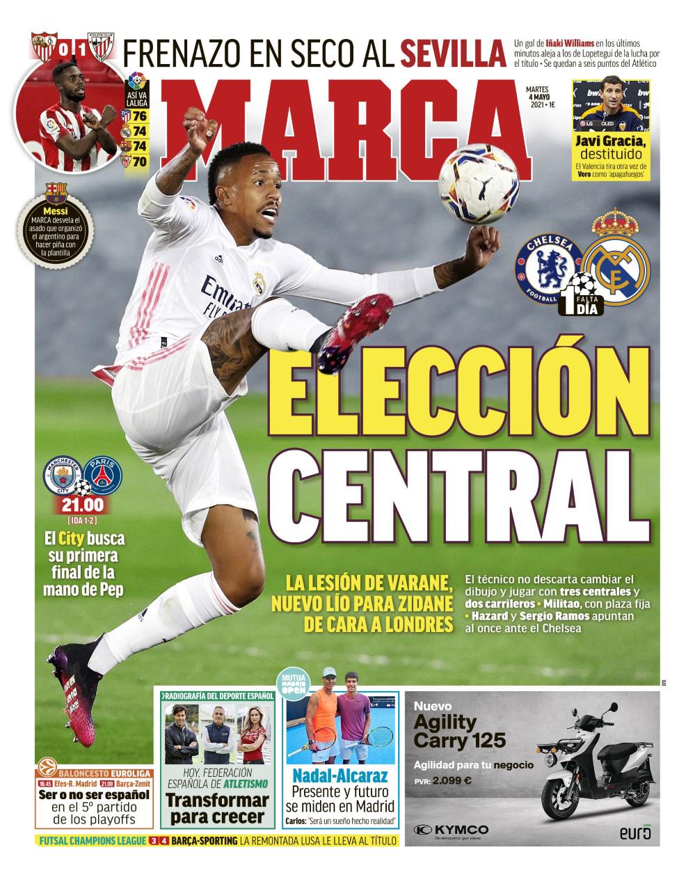 Documentos españoles de hoy: Zinedine Zidane se enfrenta a problemas de lesiones antes de la eliminatoria del Chelsea y Memphis Depay se acerca a la jugada de Barcelona