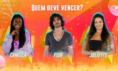 BBB 21: Camila, Fiuk y Juliette están en la final;  ¿quién quieres que gane el show?  ¡Votar!     gran Hermano Brasil
