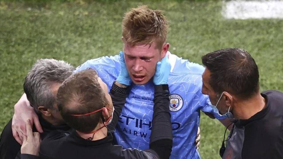 Final de la UCL: De Bruyne sufre una fractura facial con la Eurocopa 2020 a dos semanas