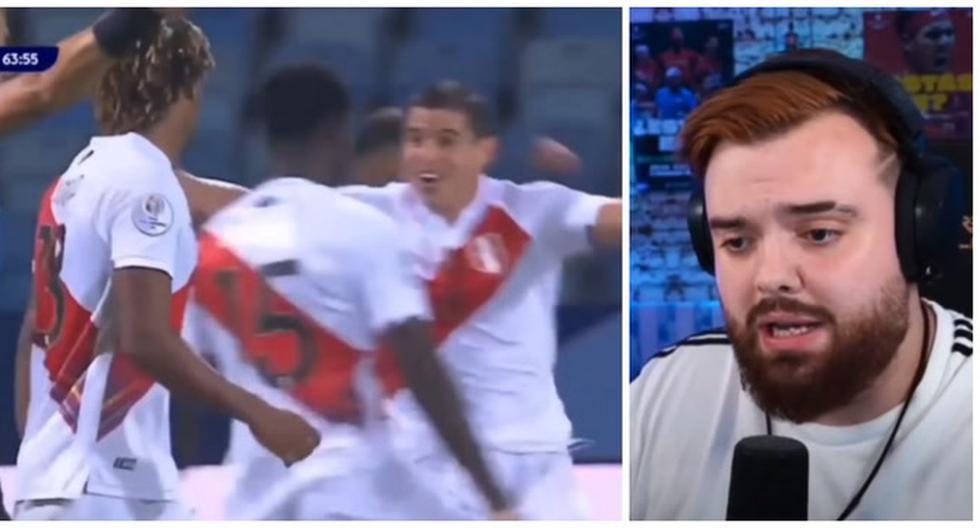 """""""¡Es gol, es gol!"""": la emoción de Ibai tras el autogol de Mina para el 2-1 de Perú vs. Colombia [VIDEO]"""
