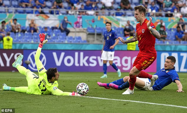 El portero de Gales Danny Ward ha sido una de las selecciones del torneo Euro 2020 hasta ahora