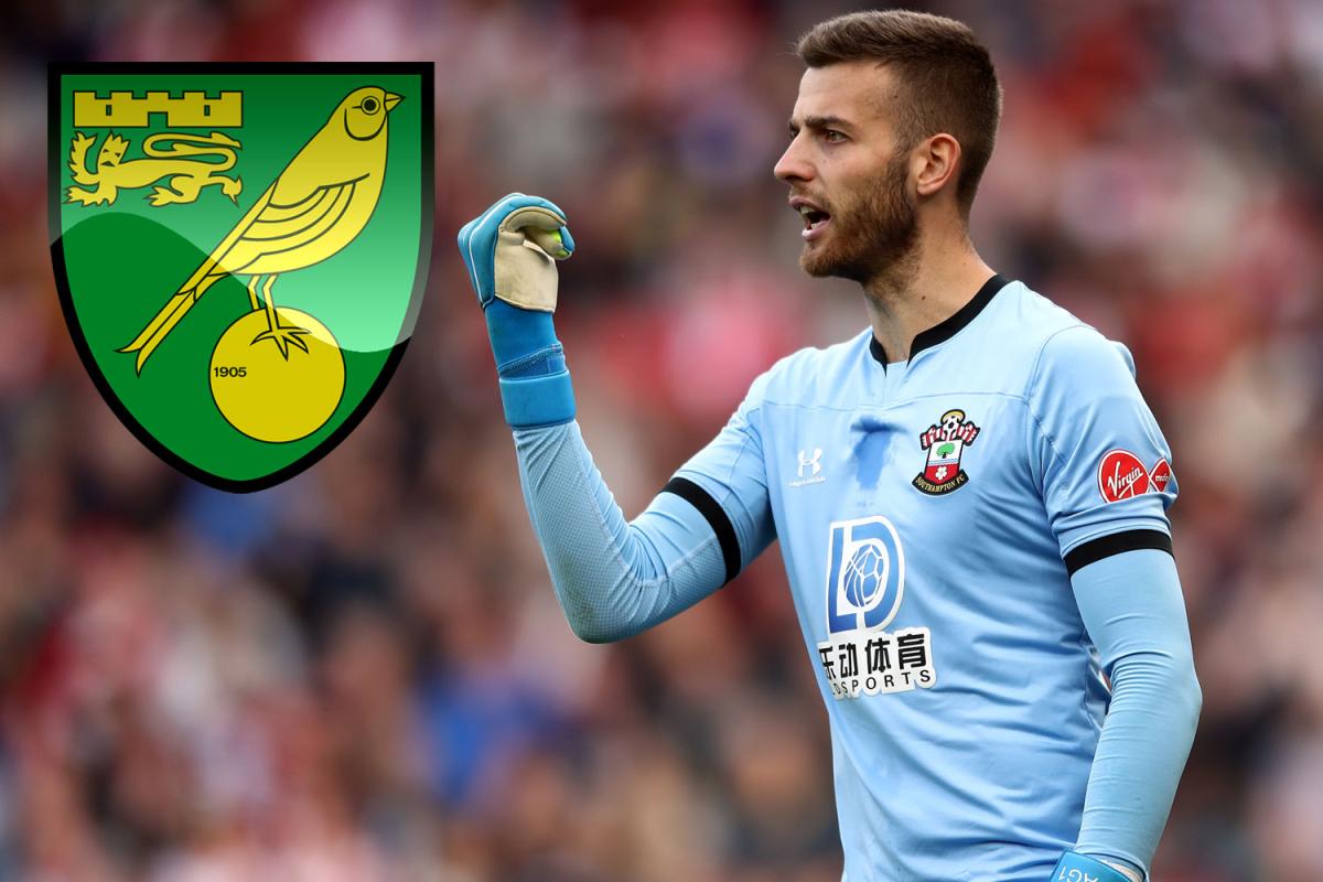 El arquero de Southampton, Angus Gunn, tiene hoy el médico de Norwich antes de la transferencia de £ 5 millones después de caer en el orden jerárquico