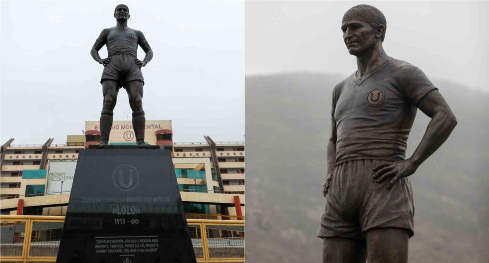 Universitario de Deportes: así quedó la nueva estatua de Lolo Fernández   FOTOS