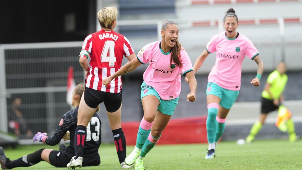 el Barça golea en Lezama con un once distinto al de Zubieta