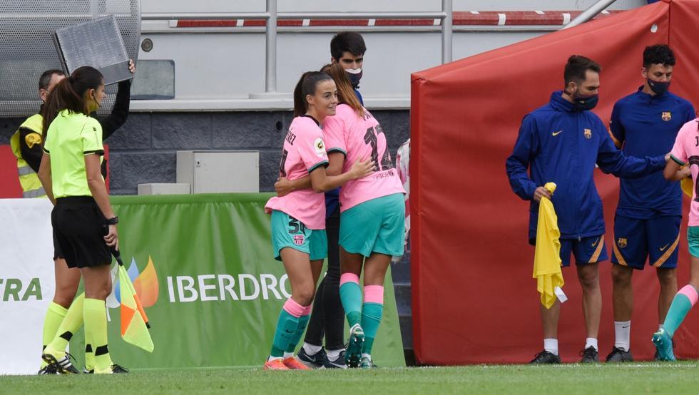 Maria Pérez entra por Patri Guijarro y debuta con el Barça femenino en Lezama