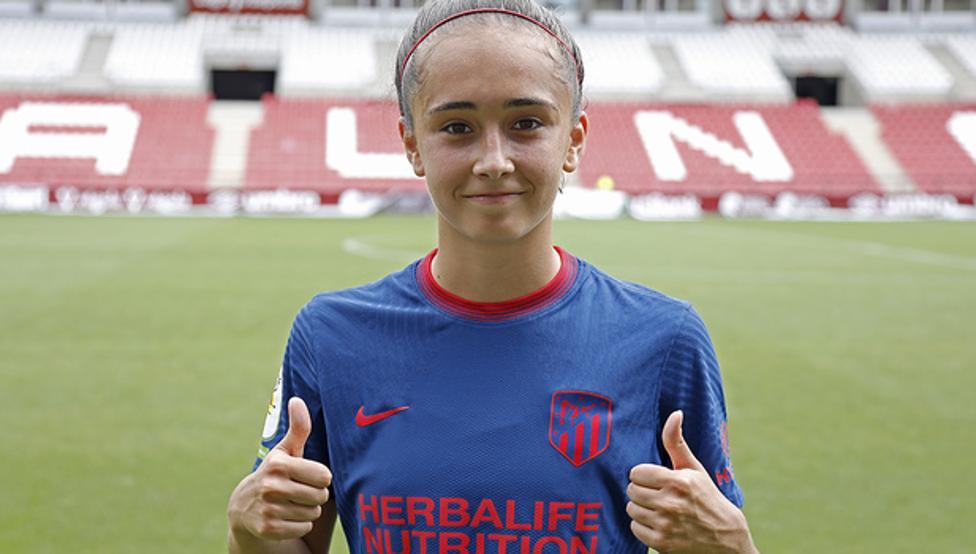 Yolanda Sierra, jugadora del Atlético de Madrid Femenino
