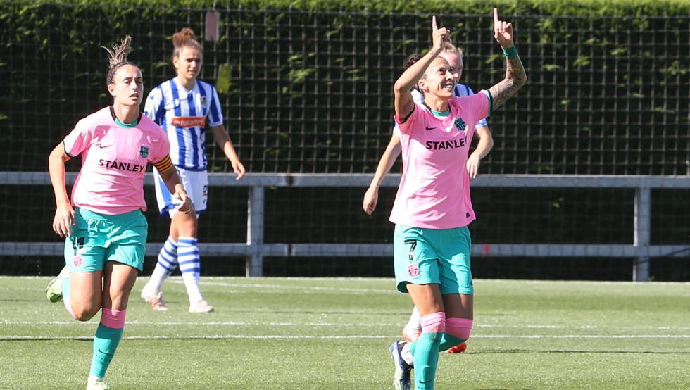 El Barça ganó 1-4 en Zubieta con 'hat-trick' de Jenni Hermoso