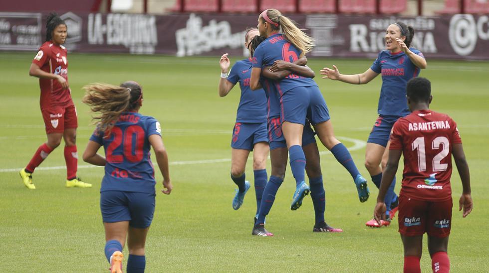 Deyna Castellanos celebrando el 0-1 ante el EDF Logroño.