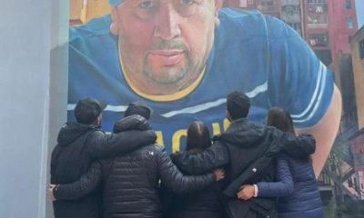 El tremendo mural del papá de Tevez