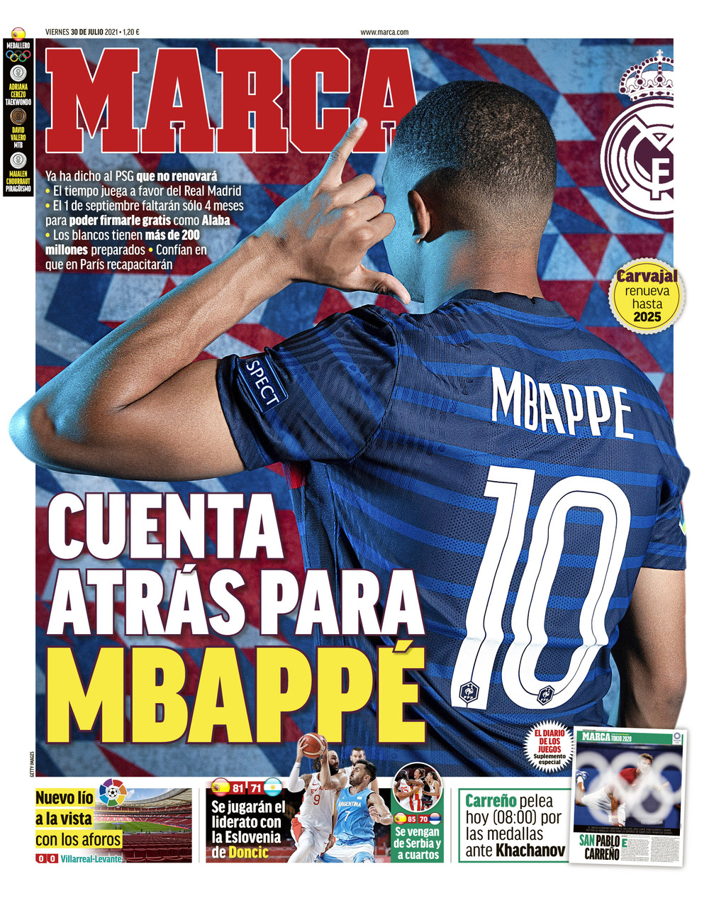 Documentos de hoy: cuenta atrás para Mbappé mientras Koeman entra duro