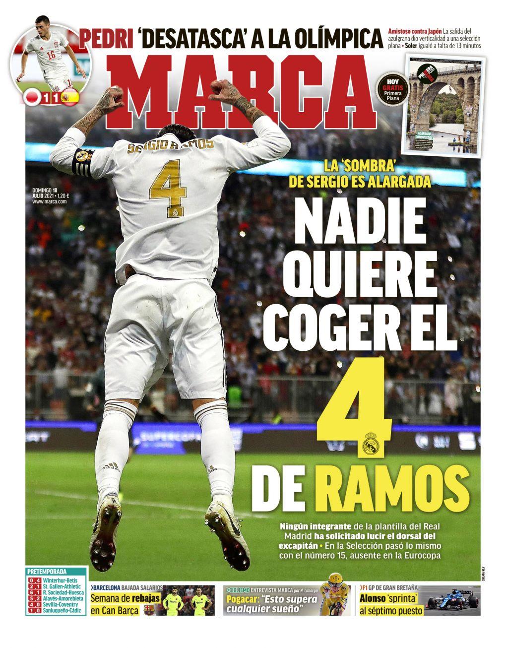 Documentos españoles de hoy: El número 4 del Real Madrid de Sergio Ramos sigue sin reclamar, Raphael Varane se acerca a la salida de Los Blancos y el Barcelona apunta a más transferencias gratuitas