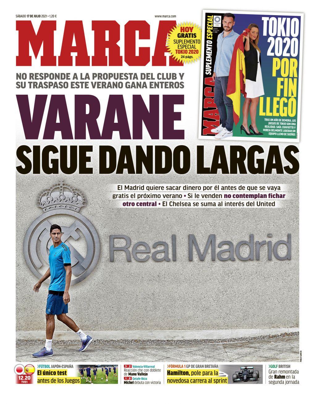 Documentos españoles de hoy: Raphael Varane listo para la salida del Real Madrid, problemas de Kieran Trippier y Gareth Bale y el Barcelona apunta a las extensiones de Ansu Fati