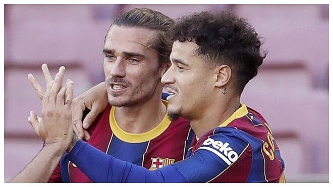 El Barcelona podría recortar 100 millones de euros de su gasto salarial si vende a Antoine Griezmann y Philippe Coutinho