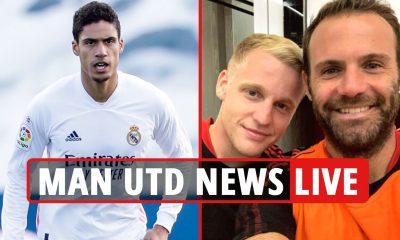 Man Utd transfer news EN VIVO: Varane '£ 41m fee ACORDED', van de Beek en entrenamiento, actualización de Saul Niguez, Pogba ÚLTIMO