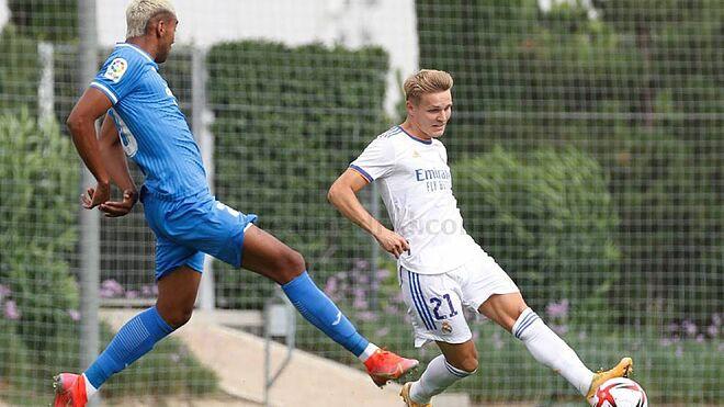 Martin Odegaard protagoniza el Real Madrid vence 3-1 al Fuenlabrada en partido de entrenamiento