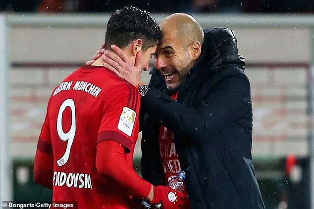 Robert Lewandowski tuvo dos temporadas exitosas con Pep Guardiola en el Bayern de Múnich