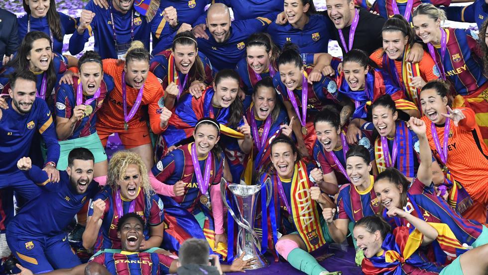 El Barça celebra la Champions League