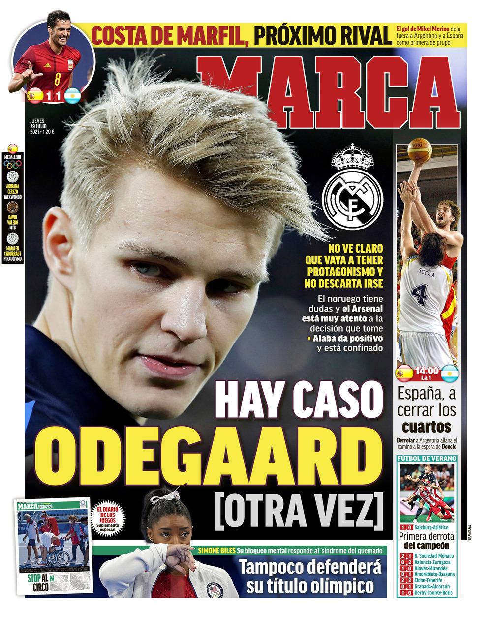 Papeles de hoy: El futuro de Odegaard no está claro, la Roja avanza, Messi vuelve a Barcelona para renovar