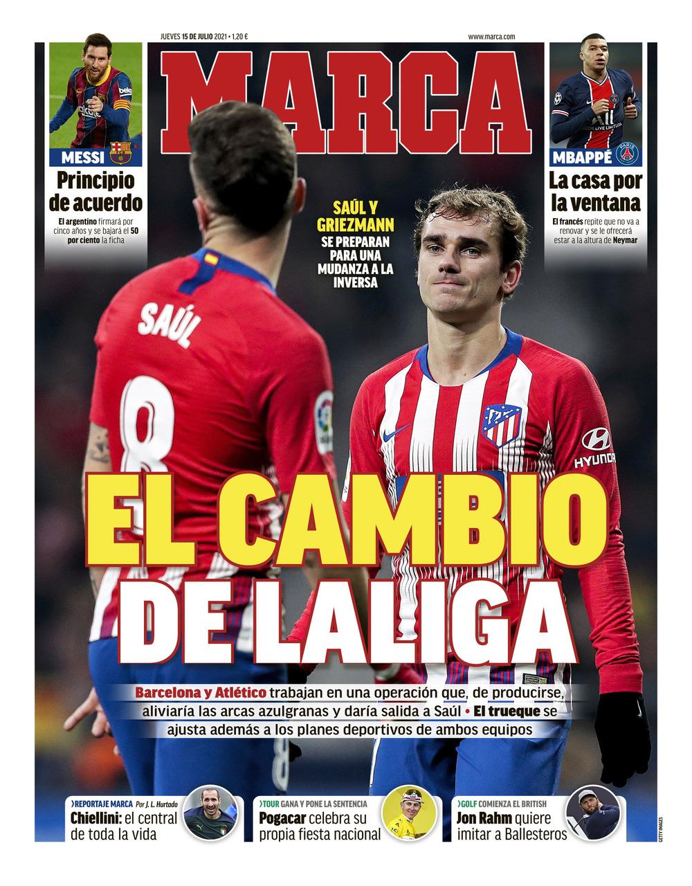 Papeles de hoy: Griezmann y Saul se preparan para intercambiar colores mientras Messi está cerca de firmar un contrato de cinco años