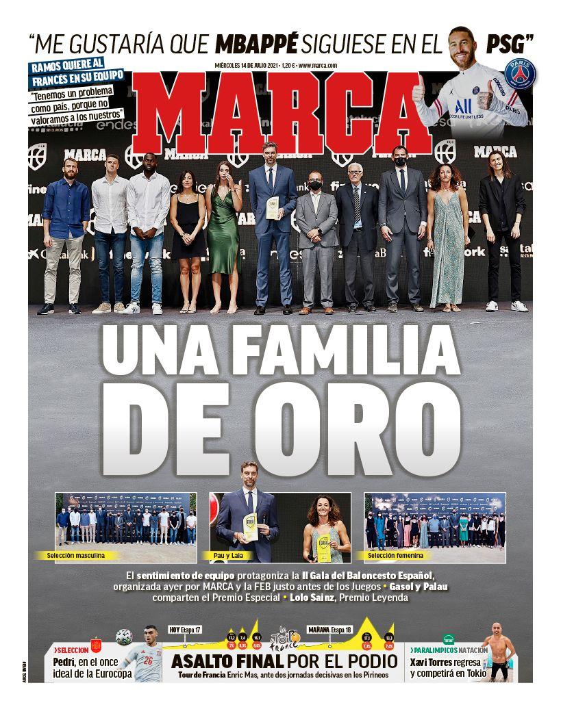 Papeles de hoy: Ramos quiere que Mbappé se quede en el PSG, Messi cerca de renovar con el Barcelona, el cambio de Griezmann por Saúl parece posible
