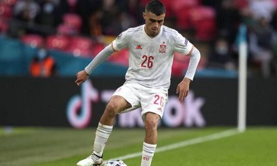 Pedri seleccionado en equipo oficial del torneo de la Euro 2020