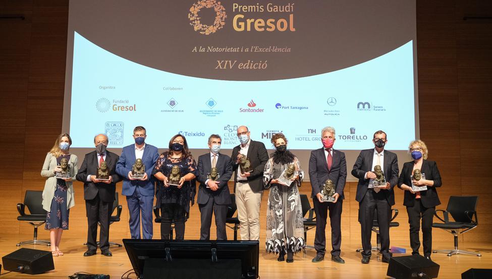 Xavier Puig, directivo del Barça y responsable del Femenino, en los Premios Gaudí Gresol