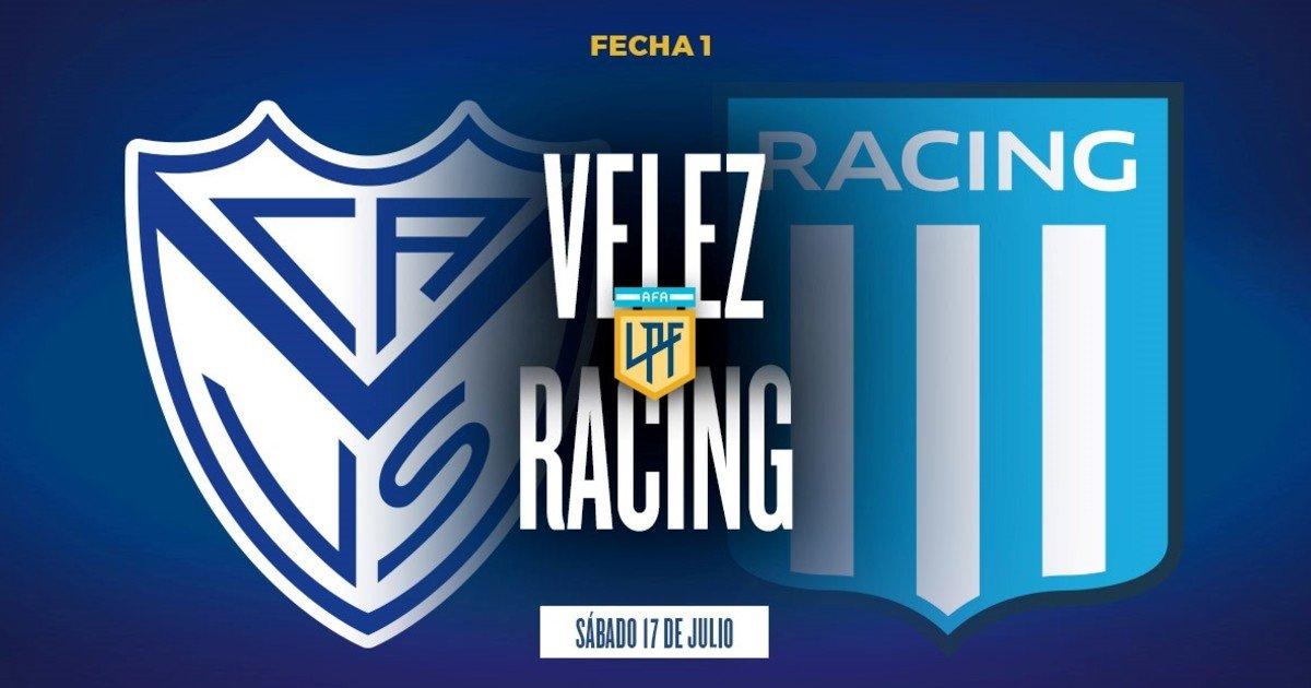 Racing: hora, formaciones y TV