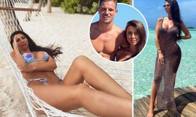 La estrella del Arsenal, Cedric Soares, se recarga para la pretemporada después de unas vacaciones exóticas con la impresionante esposa Filipa Brandao