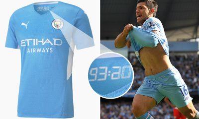 El kit de local del Man City 2021-22 se filtró en línea con un conmovedor homenaje en 93:20 al gol de la leyenda Sergio Agüero