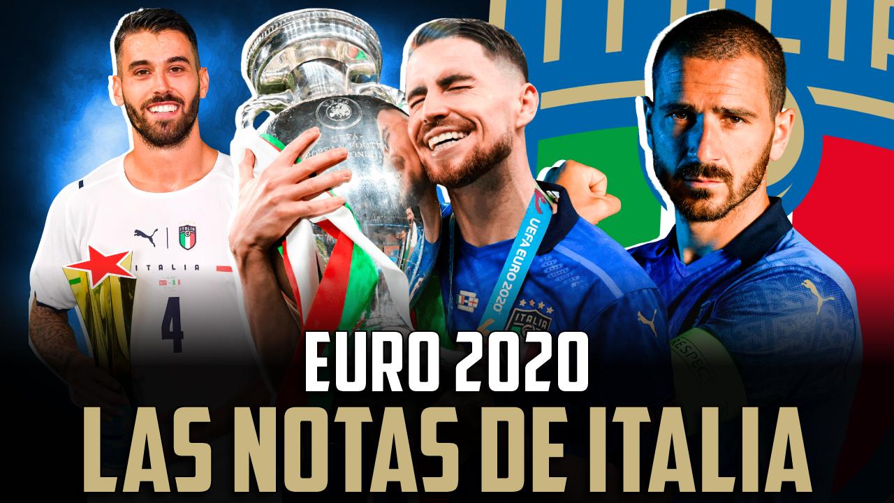 Vídeo I Las notas de la selección italiana en la Eurocopa