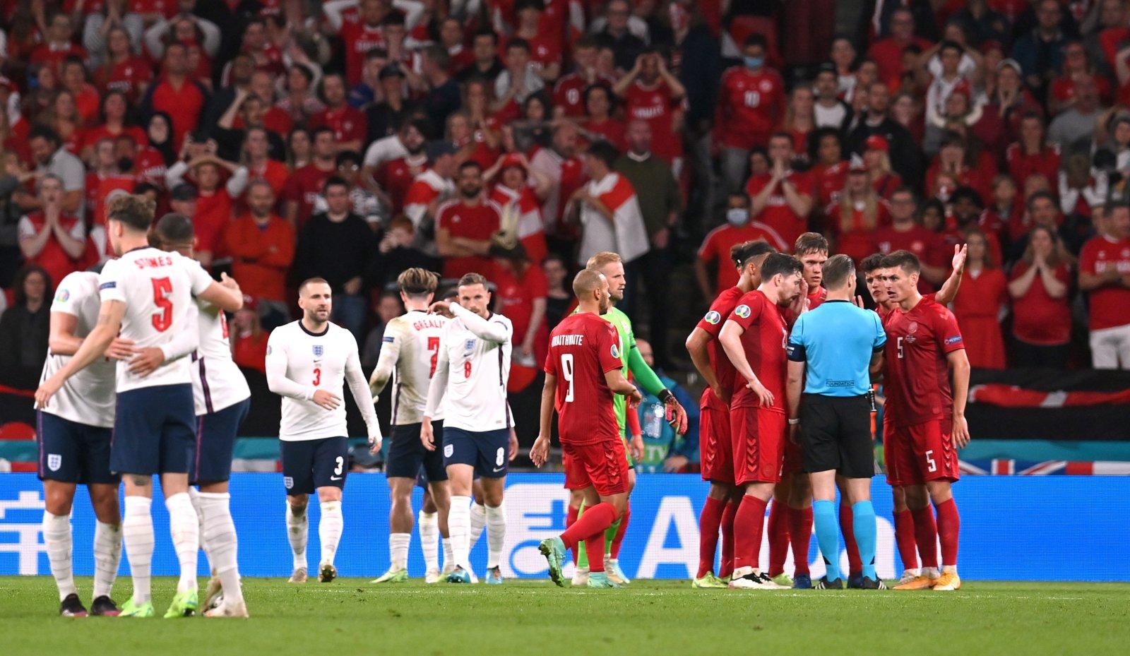 Inglaterra supera controvertidamente a Dinamarca para establecer la fecha final de la Eurocopa 2020 con Italia