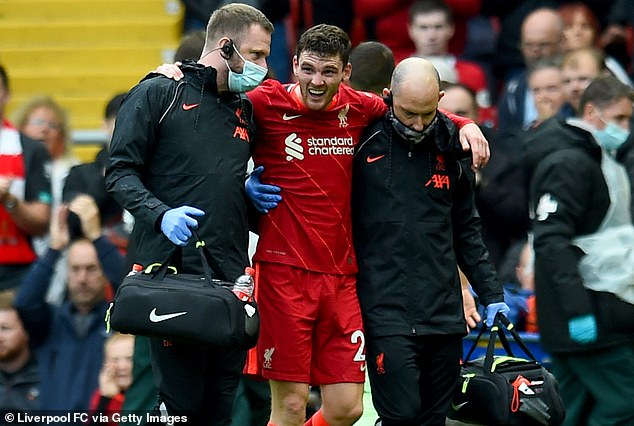 Andy Robertson, lateral izquierdo del Liverpool, sufrió una lesión en el tobillo ante el Athletic de Bilbao