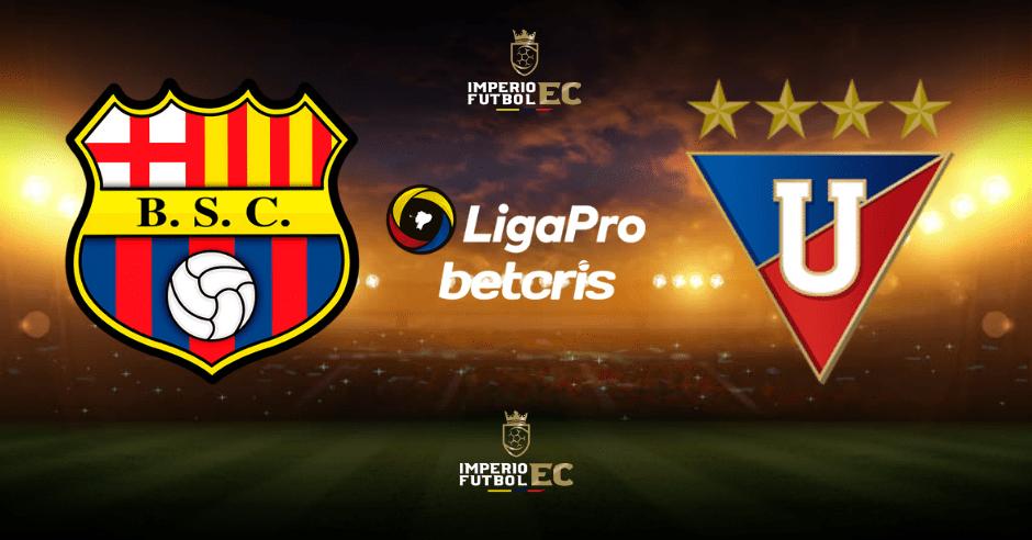 Canales para ver el partido EN VIVO por GolTV Barcelona SC vs Liga de Quito por LigaPro