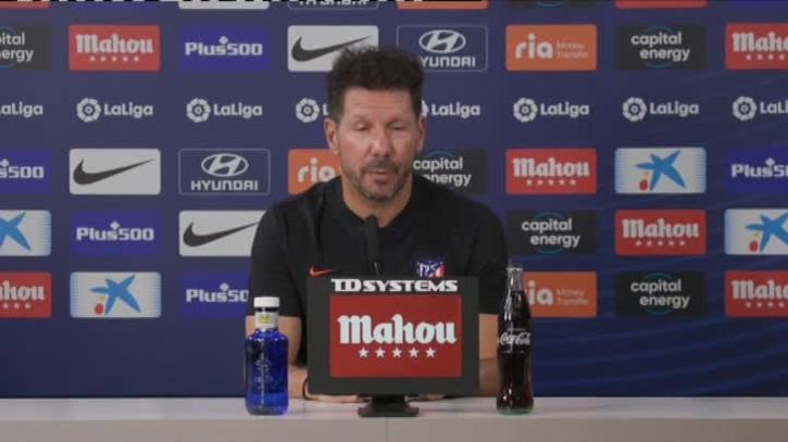 """Diego Simeone: """"No cambiaremos nuestro camino. Partido a partido""""."""
