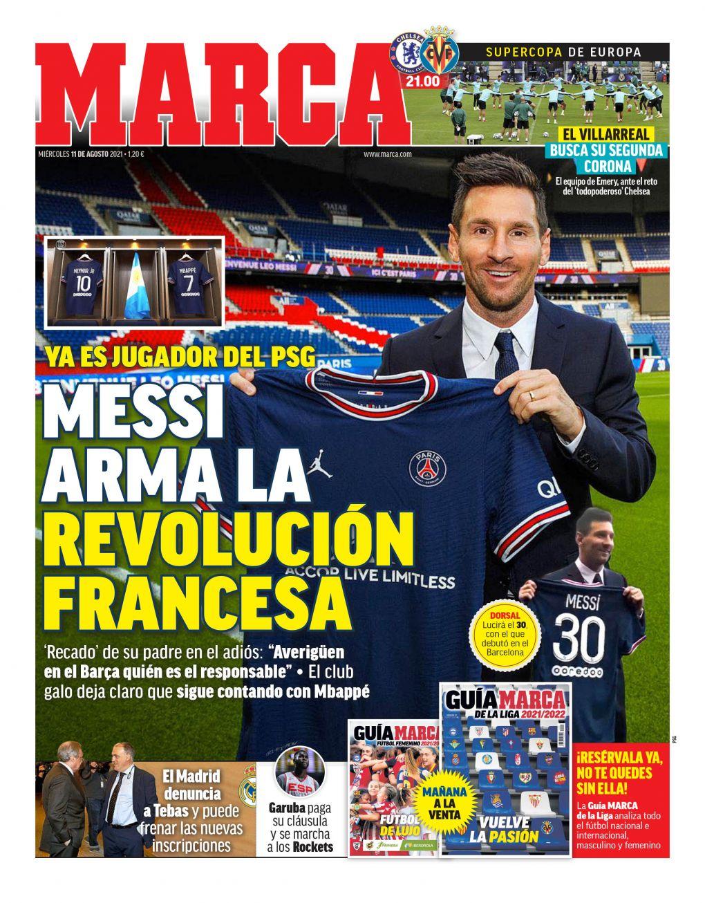 Documentos de hoy: Lionel Messi sorprende al mundo al fichar por el Paris Saint-Germain