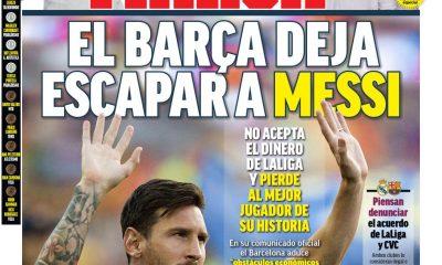 Documentos de hoy: el Barcelona anuncia que Lionel Messi ha dejado el club