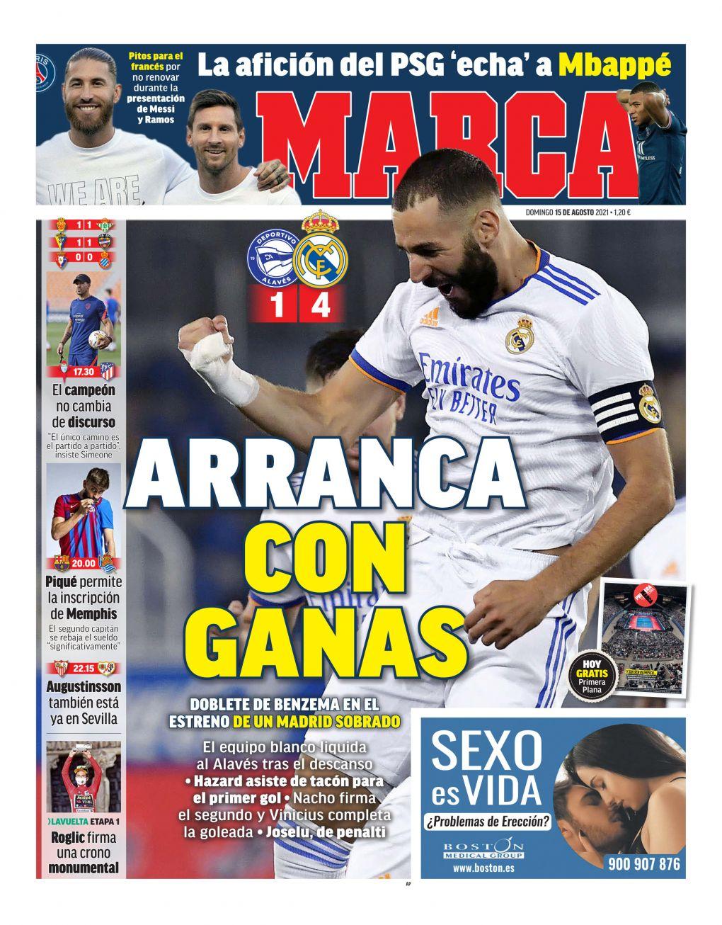 Documentos españoles de hoy: Ancelotti inicia el regreso del Real Madrid con la victoria del Alavés y Memphis parece listo para debutar en el Barcelona