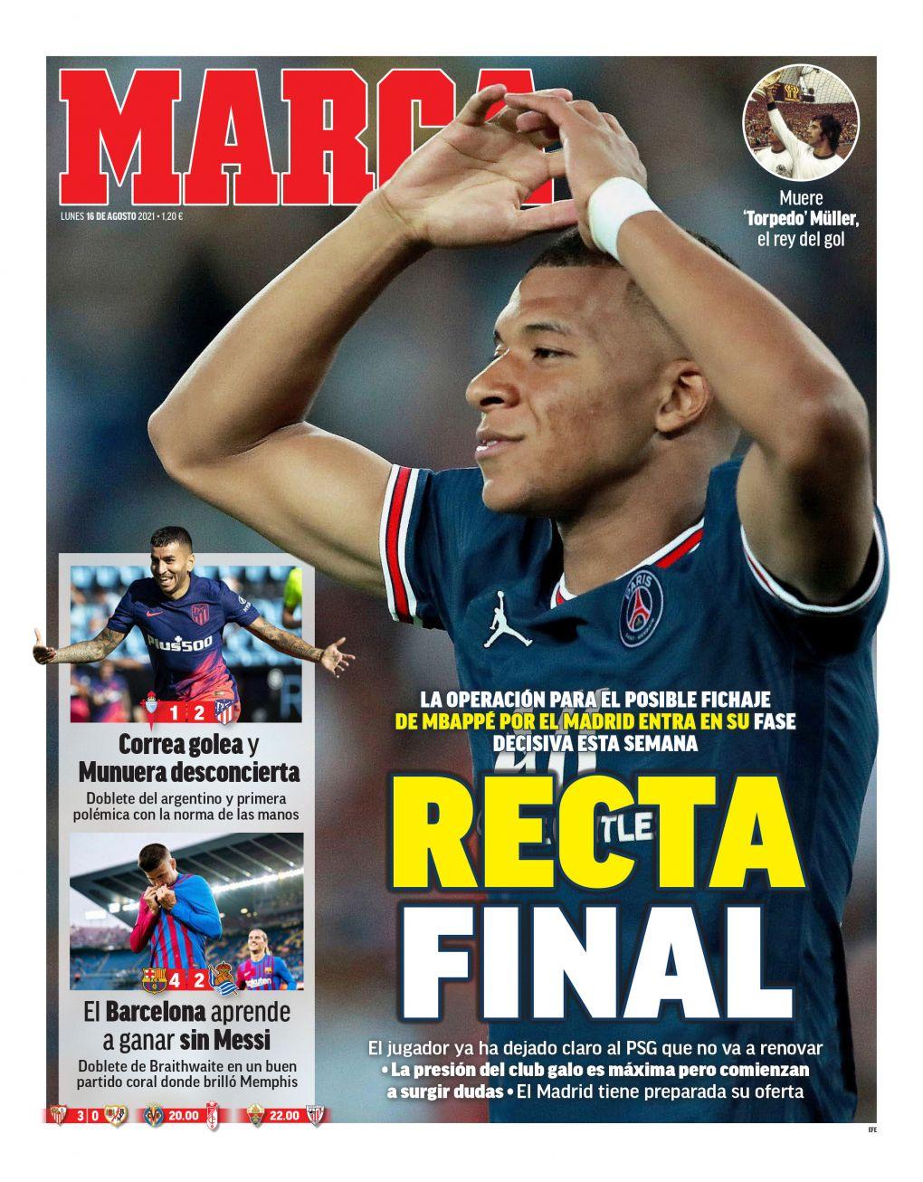 Documentos españoles de hoy: Atlético de Madrid y Barcelona aseguran victorias clave y el Real Madrid se acerca a Kylian Mbappé