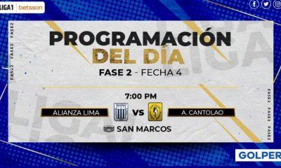 GOLPERU en vivo: Alianza Lima vs. Cantolao por la Fase 2 de la Liga 1 | Alianza Lima vs. Academia Cantolao EN VIVO ONLINE vía Gol Perú por la fecha 4 de la Fase 2 de la Liga 1 | Partidos de hoy | NCZD | FUTBOL-PERUANO