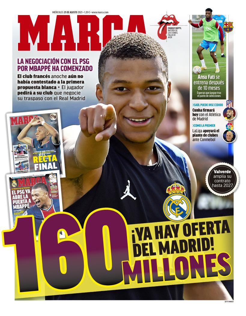 Papeles de hoy: el Madrid pasa por Mbappé mientras Fati vuelve a los entrenamientos del Barcelona