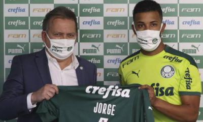 Presentado, Jorge agradece la oportunidad en Palmeiras y habla de recuperación de lesión