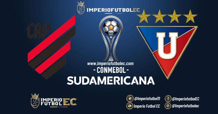 VER PARTIDO Atlético Paranaense vs Liga de Quito EN VIVO por la Copa Sudamericana cuartos de final vuelta