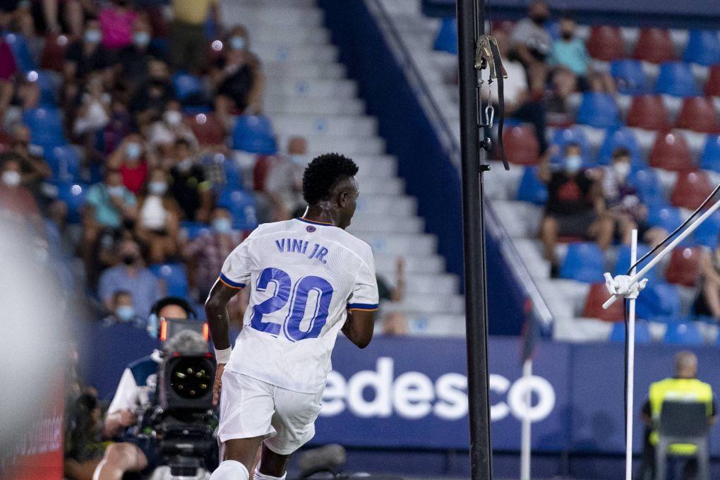 Vinicius supuso su llamativo segundo gol ante el Levante