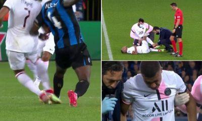 Brujas vs PSG: Mbappé se retira del choque con el Club Brujas por lesión a los 51 minutos