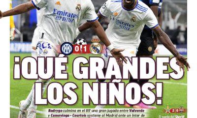 Documentos de hoy: El Real Madrid venció al Inter en la muerte mientras el Barcelona mira hacia el futuro