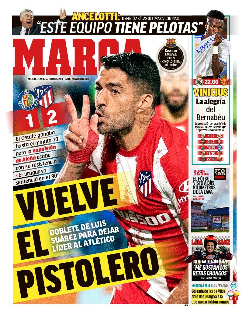 Documentos de hoy: Suárez manda al Atlético a la cabeza mientras el futuro de Koeman está en juego