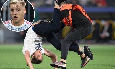 Los fanáticos de Man Utd bromean 'ha hecho más que Donny van de Beek' mientras el streaker interrumpe la derrota de los Young Boys