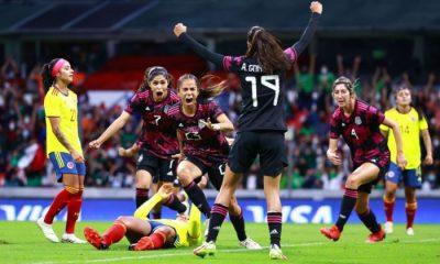 México fue contundente y derrotó en el Azteca a la Selección Colombia femenina