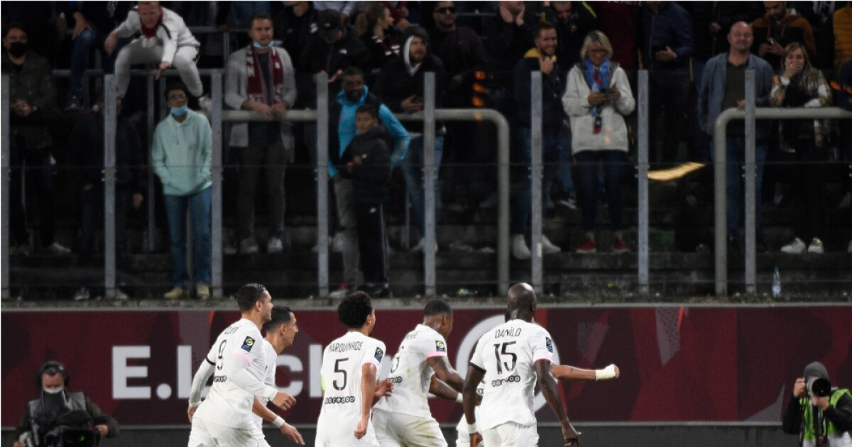 París Saint-Germain no se frena y sigue por el título de la Ligue 1: venció 2-1 al Metz